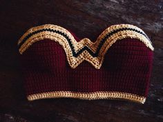 Wonder Woman Crochet Cropped top by Phospheness on Etsy