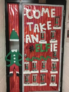 50 Christmas Door Decorations for Work to help you Ace the Door Decorating Contest - Hike n Dip Looking for quick Christmas Door Decoration Ideas? Here are the best Christmas Door Decorations for work to ace the Christmas door decorating contest. Christmas Door Decorating Contest, School Door Decorations, Office Christmas Decorations, Holiday Decor, Elf Decorations, Preschool Christmas, Christmas Activities, Christmas Fun, Beautiful Christmas