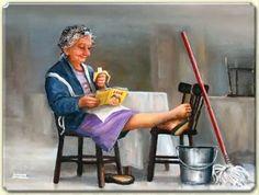Recess reader / Descanso lector (ilustración de Dianne Dengel)