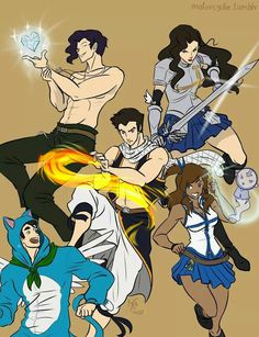 Omg. Fairy tail and Legend of Korra crossover.----I have been waiting for this crossover FOREVER.