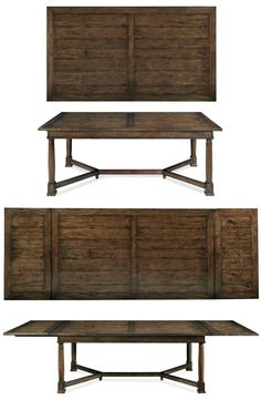"""Bernhardt Vintage Patina Trestle Table (322-224). 84""""X46.5"""", extends to 132"""" with end leaves."""