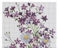 Spring Bouquet (Pg 1 of Cross Stitch Numbers, Cross Stitch Love, Modern Cross Stitch, Cross Stitch Flowers, Cross Stitch Charts, Cross Stitch Patterns, Cross Stitching, Cross Stitch Embroidery, Teneriffe