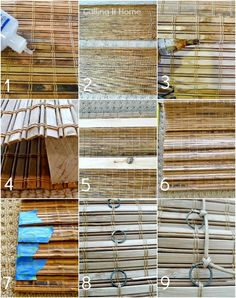 Calling it Home - how to cut up a big box store bamboo blind to get 2 for 1.