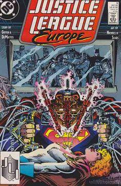 Justice League Europe #9 (1989) Art Nichols & Bart Sears Cover, Art Nichols Pencils, Keith Giffen & J.M. DeMatteis Story Rare Comic Books, Comic Book Publishers, Time Warner, Iron Spider, Face Sketch, Classic Comics, Silver Age, American Comics, Justice League