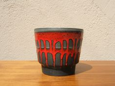 Vintage Planter Plant Pot from the 60s by Fohr - Fat Lava - West German Pottery - Mid Century