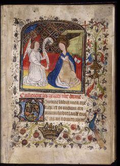 Bodleian, ms Buchanan e.11, fol. 14r, France début XVe s. Texte : Matines (Heures de la Vierge)