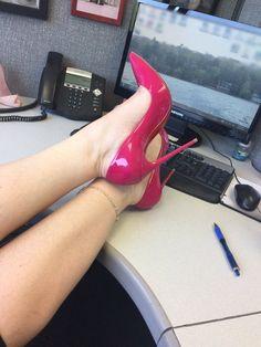 """Cerise"" Pink heels"