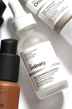 #primer #theordinary Couleur Fuchsia, Love Makeup, The Ordinary, Makeup Brushes, Make Up, Personal Care, Skin Care, Bottle, Mac Makeup