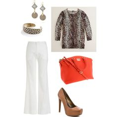 """White Pants 2"" by cardiganjunkie on Polyvore"