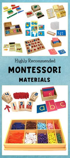 Highly recommended #montessori materials