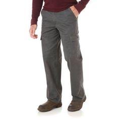 Wrangler Men's Comfort Solution Series Cargo Pant, Black