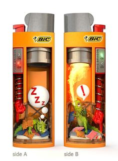 """""""Poke Dragon Lighter"""" entry at  Design On Fire! contest by BIC.  Vote here, if you like it: http://www.mybiclighter.com/el/design-fire-2/?page=detail=9Ol35iU80x141Vaj04hW"""