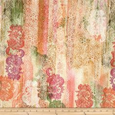 Timeless Treasures Indian Summer Abstract Lace Stripe From Fabricdotcom Designed By This Cotton Print Fabric Is Perfect For Quilting