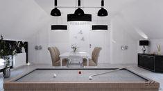 Projekt pomieszczenia na spotkania rodzinne połączony z przestrzenią do spędzania wolnego czasu. Home, Ad Home, Homes, Haus, Houses