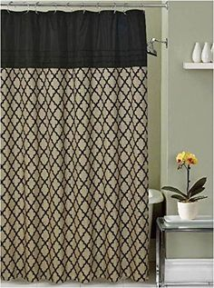 Lancaster Moroccan Black Beige Taupe Fabric Shower Curtai... https://www.amazon.com/dp/B017BPUCKY/ref=cm_sw_r_pi_dp_x_kayTzbX8Q2W5K