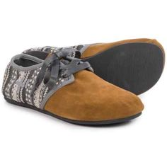 OTZ Shoes Jazz Lace Flats - Suede (For Women) in Latte/Yucatan - Closeouts