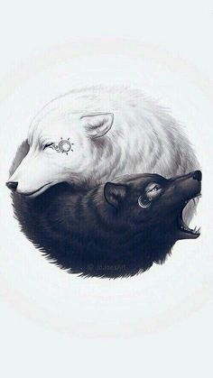 Gemini wolves. Yin and yang