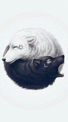 Gemini wolves. Yin and yang