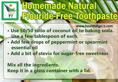 Homemade Natural Flouride-Free Toothpaste.