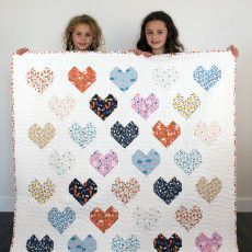 Sweet Autumn Day - Cloud9 Fabrics - free pattern for this quilt here: http://145578867.r.lightningbase-cdn.com/wp-content/uploads/2015/02/Sweethearts-Quilt.pdf