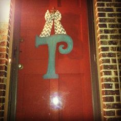 Initial Door Hanger Hobby Lobby Wooden Letter Acrylic