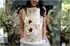 This cake by is art! Lace Wedding, Wedding Dresses, Bridal Jewellery, Florals, Wedding Cakes, Makeup, Hair, Instagram, Decor