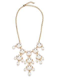 Pearl Bud Chandelier Necklace from Bauble Bar