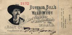 Ephemera - Buffalo Bill's Wild West Ticket Stub - 1899