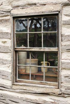 Cabin life - through the window