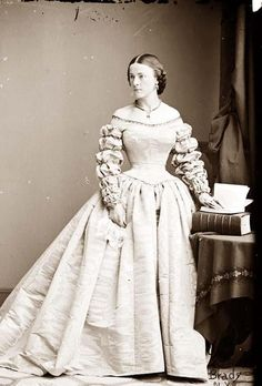 Here for your perusal is an original photograph of Miss Combs. It was created between 1855 and 1865.