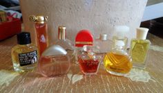 Vintage Perfumes 10  MINIS Poeme White Shoulders Organza Elige Echo by SweetTeaTreasures on Etsy