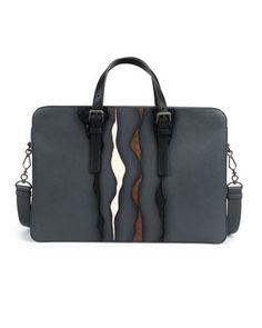 Glimmer Intrecciato-Detail Briefcase by Bottega Veneta at Bergdorf Goodman.