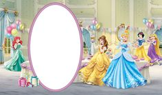 Birthday Transparent Kids Frame with Disney Princess