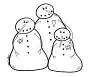 snowman stitchery pattern