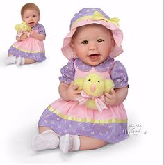 Abigail Weighted Baby Doll by Linda Murray for Ashton Drake