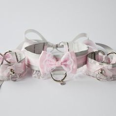 Princess Kitten Collar and Cuffs Set