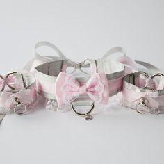 Princess Kitten Collar and Cuffs Set