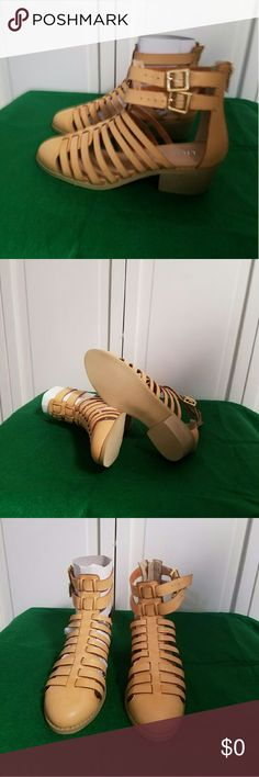Gladiatior Women's Sandals from Alloy Brand new in box Color Tan Size 7 Liliana Shoes Sandals