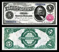 u.s. five dollar bill | United States five-dollar bill - Wikipedia, the free encyclopedia