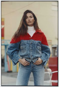 Lily Aldridge gets casual in a new campaign from Levi's for its Made & Crafted collection. The brunette beauty poses in the brand's denim jeans, trucker jackets and long coats. The Made & Crafted line Lily Aldridge, Denim Fashion, Fashion Models, Fashion Outfits, Fashion Top, Womens Fashion Online, Latest Fashion For Women, The Brunette, Brunette Beauty