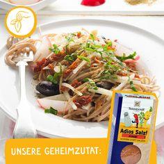 Ein italienischer Leckerbissen Spaghetti, Japchae, Ethnic Recipes, Food, Dried Tomatoes, Asparagus, Salt, Italy, Meal