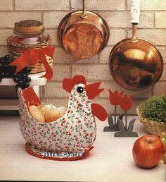 creative sewing .... chicken egg rack