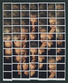 Johnny Depp Italian photographer Maurizio Galimberti creates unique mosaic portraits of celebrities using Polaroid.it Lady Gaga George Clooney Robert De Niro Benicio del Toro Sting Catherine Zeta Jones