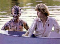 Adrienne King as Alice & Ari Lehman as Jason Voorhees in Friday the 13th (1980)