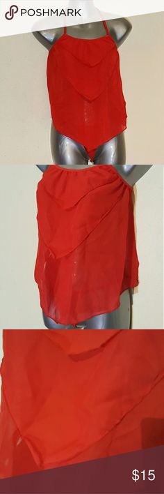 Fun and Flirt Red Nighty Sexy and flirty Red Nighty with front layer effect. Has double tie back and matching g-string. NWOT Never worn. I used to own my own lingerie store and this is left over inventory. Intimates & Sleepwear