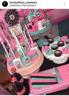 Powerful transmitted quinceanera party planning see this Grease Themed Parties, 50s Theme Parties, Grease Party, Fifties Party, Retro Party, 1950s Party, Retro Birthday, Sweet 16 Birthday, Birthday Stuff