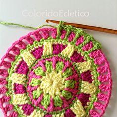 ColoridoEcletico: Mandala ColoridoEcletico - Passo a Passo