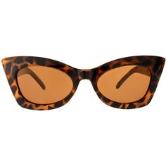 Asos Tort Cat Eye Sunglasses ❤ liked on Polyvore