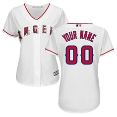 1cce4723aad Women Los Angeles Angels of Anaheim Majestic White Home Cool Base Custom  MLB Jersey