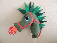 Addi's Wonderland Stick Horse Dragon Elliott by HopelesslyHookedSM, $50.00